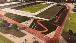 Het nieuwe stadion De Braak dat in 2023 klaar moet zijn