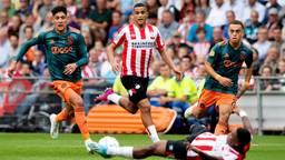 Mohamed Ihattaren was weer uitblinker aan de kant van PSV (foto: ANP).