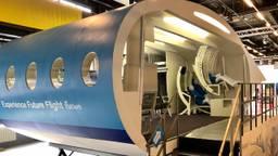 Dit is het prototype van het vliegtuig van de toekomst (foto: Omroep Brabant).