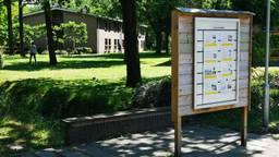 Het AZC in Budel (foto Omroep Brabant).