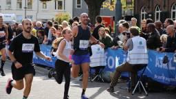 Na een aantal zware kilometers nog een sprintje naar de finish. (Foto: Lobke Kapteijns)