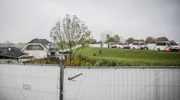 De inval in het woonwagenkamp in Lith. (Foto: ANP)