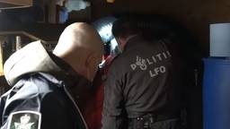 Een inval van het LFO vanwege de internationale drugsroute. (Foto: Politie)