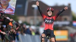 Vreugde bij Yara Kastelijn, winst in Gavere (foto: Hollandse Hoogte).