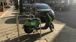 Je ziet de komende tijd steeds meer groene scootertjes in het Eindhovense straatbeeld. (Foto: Omroep Brabant)