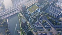 Een luchtfoto van het EPK-terrein in Den Bosch (Foto: gemeente 's Hertogenbosch)