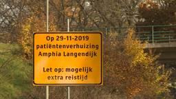 Op de Zuidelijke Rondweg wordt alvast gewaarschuwd voor de verhuisoperatie. (Foto: Raoul Cartens)