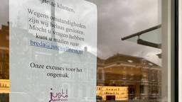 De deuren van het Just Wellness filiaal in Breda zijn gesloten.