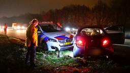 De automobilist op de A67 negeerde een stopteken. (Foto: Rico Vogels)