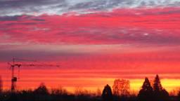 Prachtig plaatje in Oirschot vanmorgen. (Foto: Peter van der Schoot)