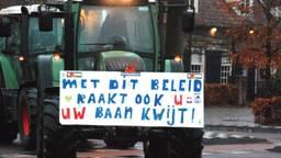 Boeren vanuit Boxtel onderweg naar het provinciehuis. (Foto: Marie Fick / SQ Vision)