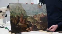 'Landschap met het offer van Abraham' van Lucas Gassel. (foto: Jos Verkuijlen)
