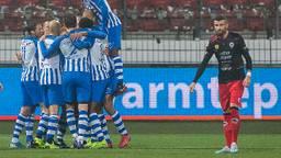 Vreugde bij FC Eindhoven na de 0-1 (foto: Orangepictures).