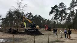 De nieuwe scheidingsbeuk in het Mastbos in Breda is geplant. (foto: Raoul Cartens)