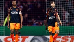 Teleurstelling bij PSV na nieuwe nederlaag. (Foto: Hollandse Hoogte)