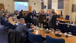 De raadzaal van Bergen op Zoom tijdens het debat