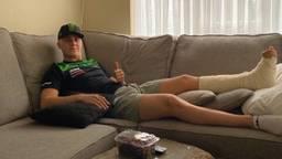 Geblesseerde motorcrosser blij met extra hersteltijd vanwege coronavirus.