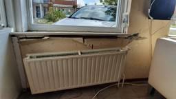 Het huis heeft flinke schade. (foto: François van Maastrigt)