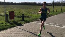Kim Dillen op weg tijdens de training (foto: Kim Dillen)
