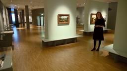 Directeur Marianne Splint in een leeg Museum Helmond (foto: Jos Verkuijlen).