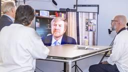 Videobellen met de koning: 'Hij was heel meelevend'