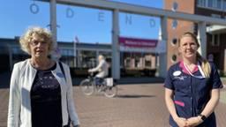 Bestuursvoorzitter Wilma de Jong en Meike Leenderts van BrabantZorg (foto: Jan Peels).