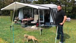 Campinggast Jeroen merkt weinig van corona op de camping