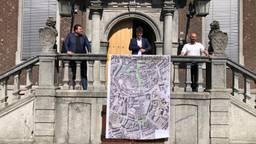 De bekendmaking van de plannen op het stadhuis. (foto: Ronald Sträter)