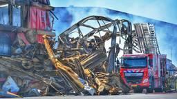 De eerste oplaaiende brand, eerder donderdagmiddag. (foto: Rico Vogels/SQ Vision)