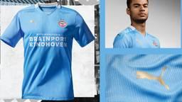 Het nieuwe uitshirt van PSV (foto: PSV Media).