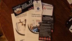 Voorbeelden van de 'juridische' informatie van Burgerfront (foto: Omroep Brabant).