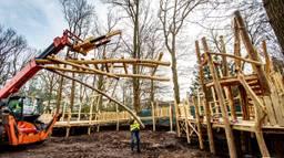 Het speelbos wordt nu gebouwd (foto: Efteling).