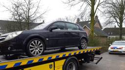 Een van de auto's (foto: Openbaar Ministerie Oost-Brabant).