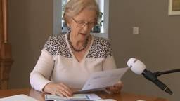 De 73-jarige Diny Stolvoort uit Boxtel heeft haar stem per post uitgebracht