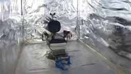 De martelkamer met tandartsstoel, misschien wel de nieuwsfoto van 2020 (foto: politie).