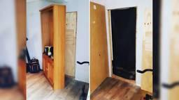 Achter de kast en een houten plaat kwam een grote hennepkwekerij tevoorschijn (foto: Instagram/politie_bo).