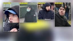 De vier zijn nu nog onherkenbaar (foto: Politie).