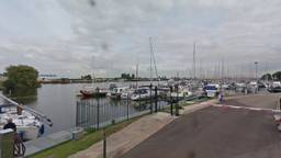 De jachthaven bij Dintelmond (foto: Google Maps).