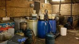 Het lab van binnen (foto: politie).