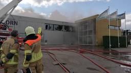 Twee doden bij brand in Werkendam (foto: Ista van Galen).