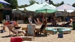 Het strandje, voor de coronacrisis, in 2019.