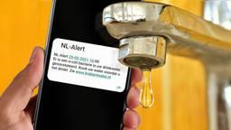 Het NL-Alert dat werd verstuurd. (beeld: Omroep Brabant).