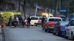 Hulpdiensten in Uden na een dodelijke schietpartij (Foto; Marco van den Broek, SQ Vision)