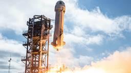 Zo ziet de lancering eruit (foto: Blue Origin).