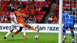 Gakpo maakte de laatste goal tegen Montenegro (foto: Orange Pictures).