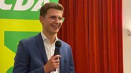 Stijn Sips, CDA-lijsttrekker.