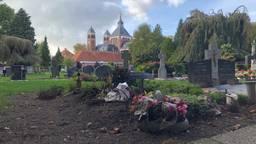 Het graf van Chris en Mia in Halsteren (foto: Omroep Brabant)