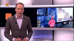 Vrachtwagenchauffeurs voeren actie om hoger loon