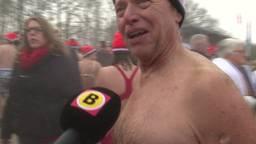 Kleren uit en muts op: verfrissende nieuwjaarsduik in Den Bosch (inclusief dronebeelden)