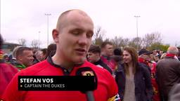 De rugbyers van The Dukes uit Den Bosch grijpen naast de titel